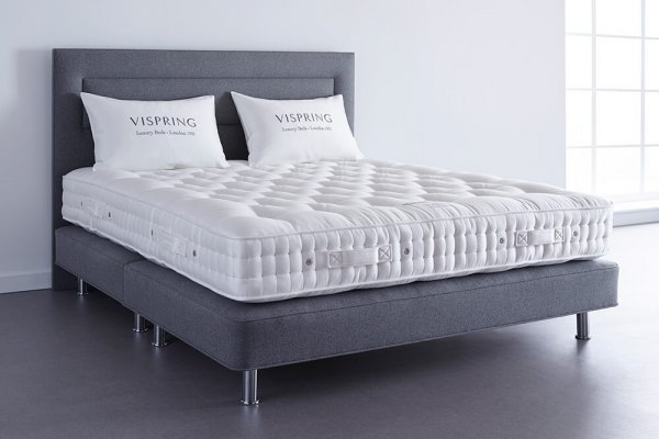 Vispring bed on metal legs