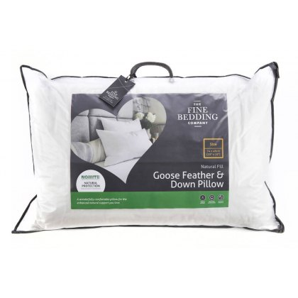 Goose Feather & Down Pillow by The Fine Bedding Company
