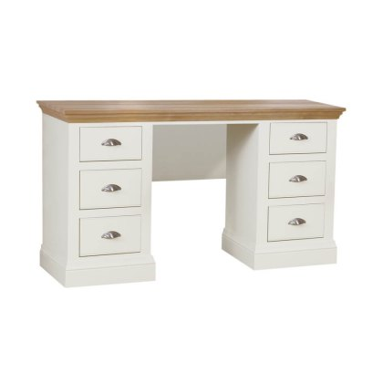 Hambledon Double Pedestal Dressing Table with Optional Mirror & Stool