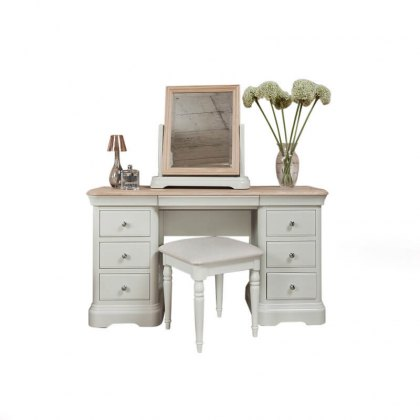 Lyon Painted Oak Dressing Table with optional Mirror & Stool