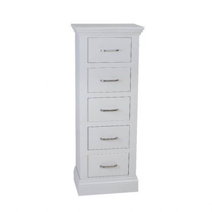 Hambledon Fully Painted Narrow Chest - 5 Drawer