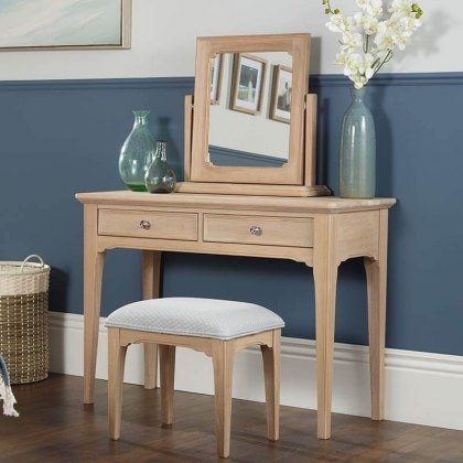 New England Oak Bedroom Stool