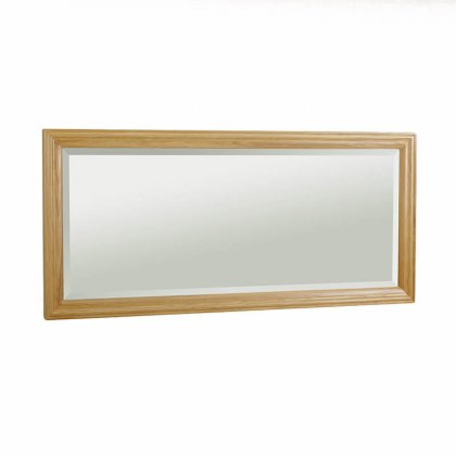 New England Oak Wall Mirror