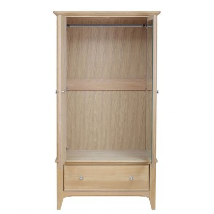 New England Oak Wardrobe - 1 Drawer