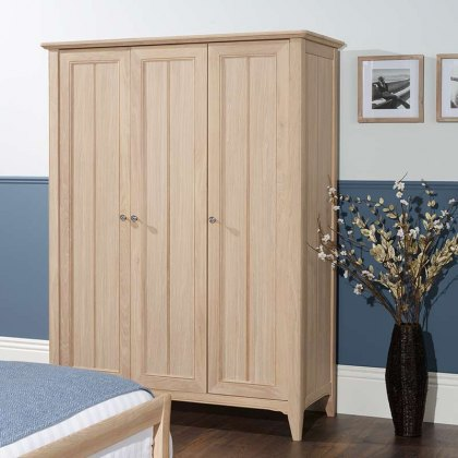 New England Oak Wardrobe Triple