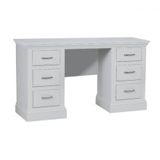 Hambledon Fully Painted Double Pedestal Dressing Table with option mirror and stool