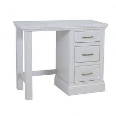 Hambledon Fully Painted Single Pedestal Dressing Table with optional mirror and stool