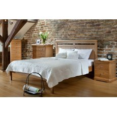 Lacoste Oak Bed Frame (Low Foot End)