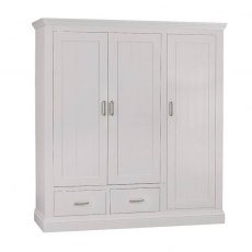 Hambledon Fully Painted Triple Ladies Wardrobe