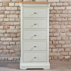 Lyon Tallboy Narrow Chest - 5 Drawer
