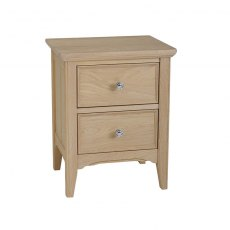 New England - Oak Bedside 2 Drawer