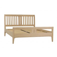 New England Slatted Bed Frame (High Foot End)