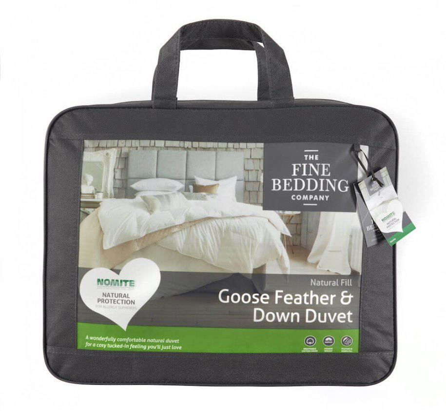 The Fine Bedding Company Goose Feather & Down Duvet by The Fine Bedding Company (Tog: Four Seasons)