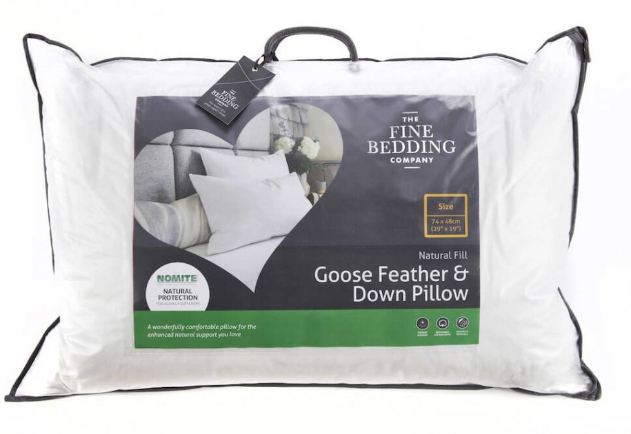 The Fine Bedding Company Goose Feather & Down Pillow by The Fine Bedding Company