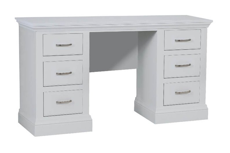 snuginteriors Hambledon Fully Painted Double Pedestal Dressing Table with option mirror and stool