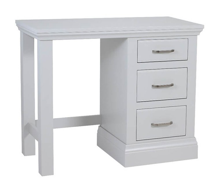 snuginteriors Hambledon Fully Painted Single Pedestal Dressing Table with optional mirror and stool