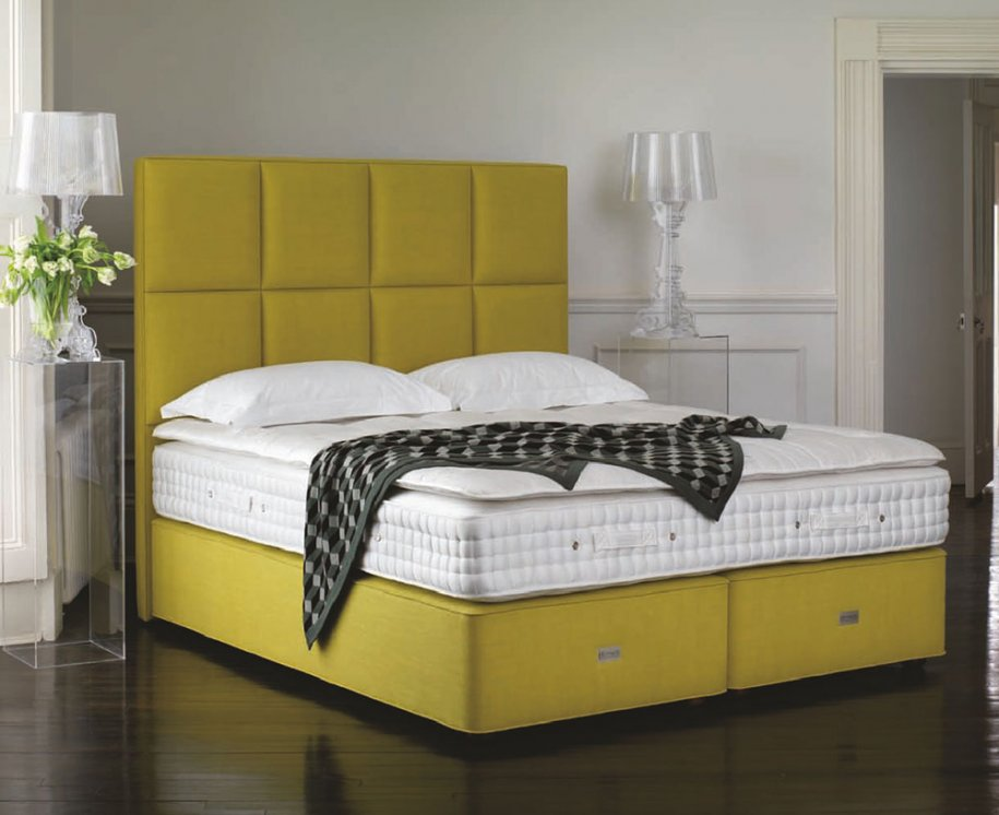 Royal Comfort Sovereign Mattress and Topper on Deep Divan and Tall Headboard