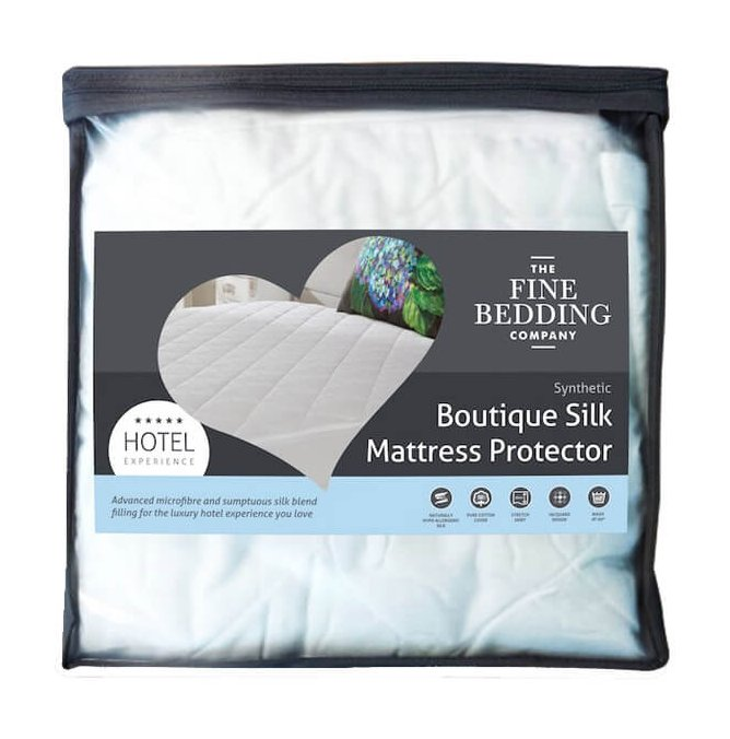 The Fine Bedding Company Boutique Silk Mattress Protector by The Fine Bedding Company