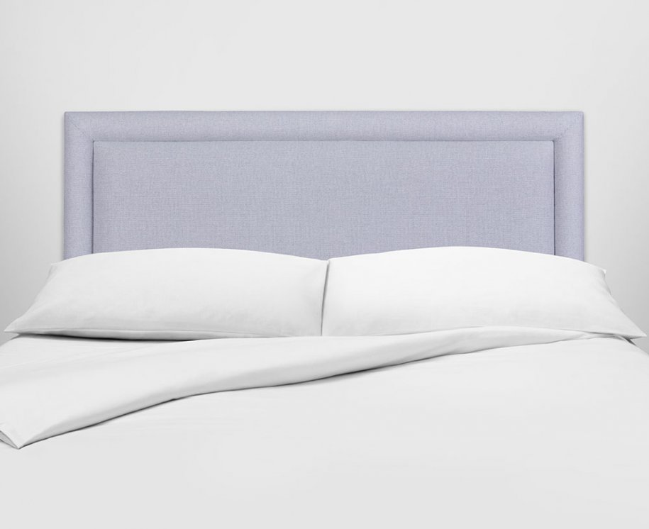 Vispring Helios Headboard with White Linen