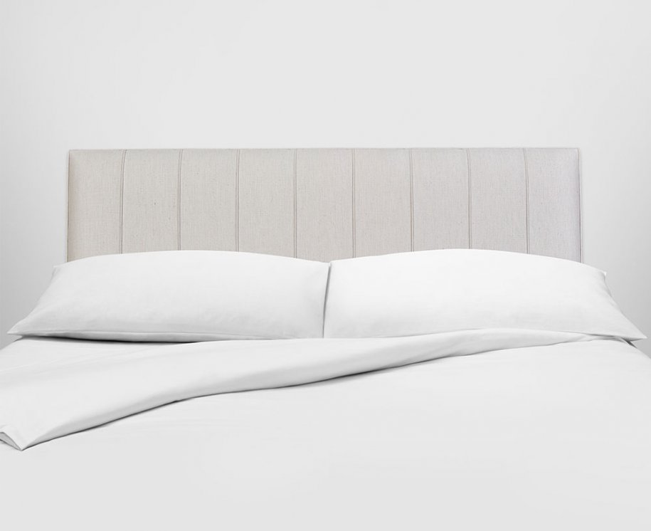 Vispring Hera Headboard with White Linen